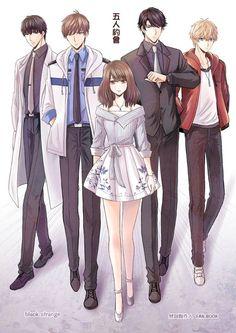 Anime Couples Drawings, Anime Couples Manga, Manga Anime, Romantic Anime Couples, Cute Anime Couples, Handsome Anime Guys, Cute Anime Guys, Anime Friendship, Anime Love Couple