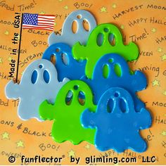 funflector reflector ghost by glimling will soon be made in the USA! Halloween Party, Halloween Costumes, Group Work, Harvest Moon, Some Ideas, Safety, Birthdays, Usa, Creative