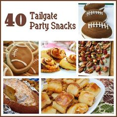 Football season is in full swing- here are 40 foods to make for your next football party or Superbowl! SixSistersStuff.com #appetizers