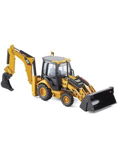 Side-Shift-Backhoe Loader With Work-Tools. #CatToys