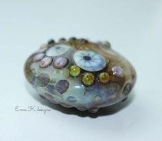 Earthy Organic handmade lampwork focal bead by Ema by EmaKDesigns, $40.00