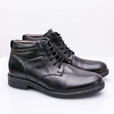 Ghete barbati Piele Mikko negre imblanite Men Dress, Dress Shoes, Derby, Oxford Shoes, Lace Up, Casual, Fashion, Moda, Fashion Styles