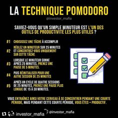 Who has already tested the pomodoro technique ? ( ・ ・ ・ An overview of the Pomodoro technique to better manage your time ⏱🍅👇 Who have already tried? Share your vision on that in comment 👇 👉 . Tips Instagram, Marketing Goals, Life Quotes Love, Creating A Blog, Online Work, Positive Attitude, Personal Development, Mindset, Online Business