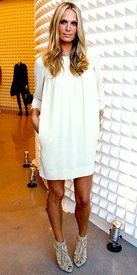 Stunning white tunic dress so flattering for all sizes