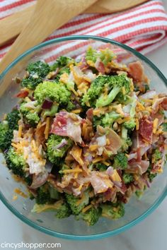 Quick and Easy Broccoli Salad Recipe 2 - I make this a lot - add in some craisins for chewy sweetness!