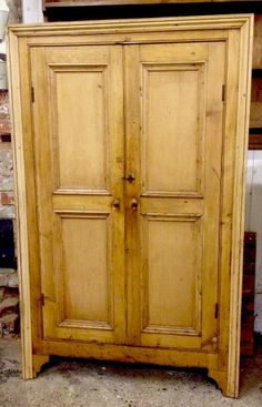 Rustic Antique Old Pine Kitchen Larder Pantry Cupboard Shabby Chic Vintage