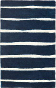 Modernrugs Com Navy Blue White Striped Rug Safavieh Rugs Stripe Modern Area