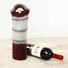 Felted Wine Tote Crochet Pattern