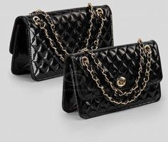 Classic Quilted Pattern Design Metal Chain PU Leather Shoulder Bag For Women (BLACK,ONE SIZE) China Wholesale - Sammydress.com