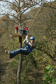 Ozark Mountain Ziplines at Eureka Springs, Arkansas