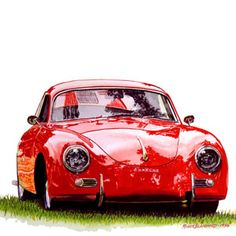 Roger Blanchard uses watercolors to really bring out the lines and character of his sports cars and vintage race cars.