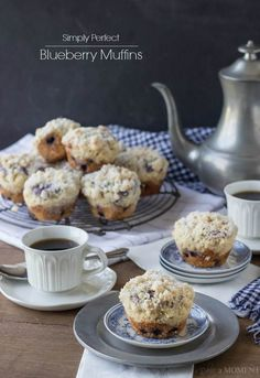 Simply Perfect Blueberry Muffins | Baking a Moment