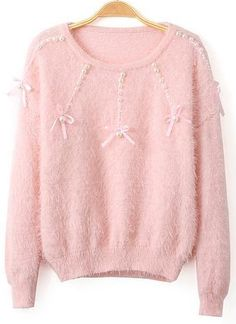 Fuzzy pink sweater...