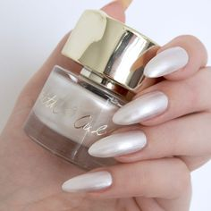 Nail Spring With Smith & Cult Polishes - powder nails - - New Ideas Ivory Nails, White Nails, Nail Manicure, My Nails, Manicures, Nail Art Techniques, Heart Nail Art, Powder Nails, Almond Nails