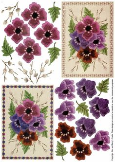 ANEMONES - 3D card toppers