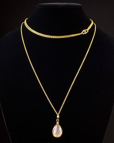 Scott Kay Guardian 18K Over Silver & Quartz & Sapphire Necklace