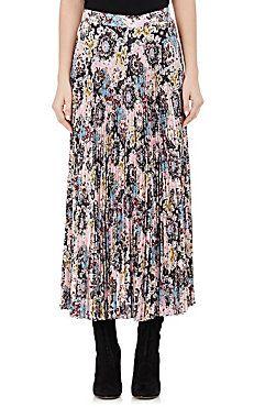 Williams Damask-Print Mid-Length Skirt