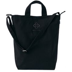 BEASTMODE® Black Canvas Tote (265 DKK) ❤ liked on Polyvore featuring bags, handbags, tote bags, canvas handbags, handbags tote bags, canvas tote bags, canvas tote and pocket tote
