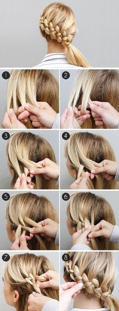 A step-by-step guide to 4 strand Dutch braids by Divine Caroline -- 'The Four-Strand Braid Made Easy-ish'