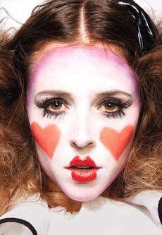 clown makeup- halloween costume inspiration