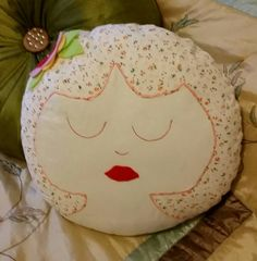 Fun  decorative head pillow by Quiltingadream on Etsy