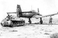 Stuka remolcado por un Panzer I