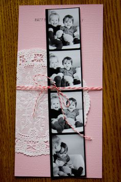 Cute V-day card idea for grandparents, aunts, uncles, etc. Idea from beKatelyn #valentine #card #photo #family