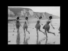 Vintage Dancers…Miss Margaret Morris' Open Air Dance Class on the Beach, c.1920s