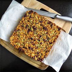 Bake Something: Fall Pantry Granola Bars