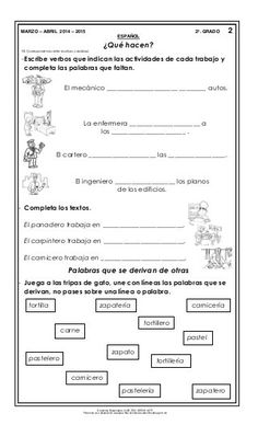 Material de apoyo_mzo_abril_14-15_segundo Bullet Journal, Personalized Items, Second Grade Books, Engineer, Science, Words