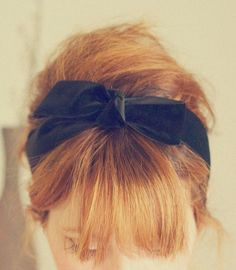 bangs and bow @Cathy .