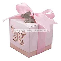 WeddingPink Butterfly Favour Boxes £4.99/5pk