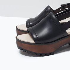 ZARA LEATHER PLATFORM SANDAL / http://www.zara.com/us/en/woman/spring-getaway/leather-platform-sandal-c715502p2438582.html