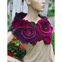 Felted scarf wool Mauve Pink Lilac felt HMET ❤ liked on Polyvore featuring accessories
