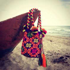 Large Multicolored Wayuu Mochila  H136 by TheBuenaOnda on Etsy, $150.00