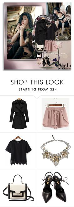 """""""PINK DRAWSTRING - Shein.com"""" by vidutoria ❤ liked on Polyvore featuring ESPRIT, WithChic, Otazu, Kate Spade, Dee Keller, NARS Cosmetics, Pink, classy, Elegant and shein"""