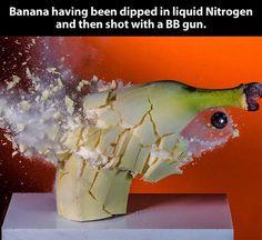 Frozen banana...