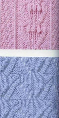 Knitting Stitches 2 (cable bobbles pattern)   Knitting Kingdom