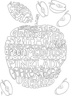 Creative Haven Delicious Whimsy: A WordPlay Coloring Book -- 6 sample pages