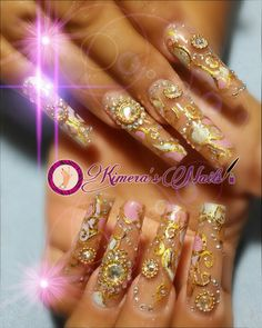 #nails #uñasbellas #uñasacrilicas #acrilycnails #uñas #diseño #kimerasnails #glitter #nude #fashionnails #fashion #sculpturenails #esculturales #sculpture #pink #white #hermosas #uñashermosas #foil #piedras