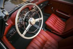 This elegant roadster is available for sale. Contact classiccenter@mbusa.com for more information.