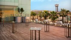 Terraza del Hotel W de Barcelona miniguiadeviaje.com | tu blog de viajes