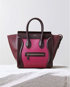 CÉLINE | Fall 2014 Leather goods and Handbags collection LUGGAGE HANDBAG IN ORCHID MULTICOLOUR SATIN CALFSKIN 165213VSA.25OD