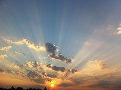 Texas Sunrise Art - Sunrays by John Dobbs