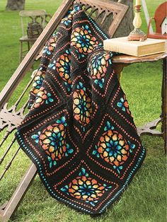 Sue's Crochet and Knitting: Stained Glass Afghan Crochet Pattern