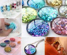 Glitter Magnets Tutorial