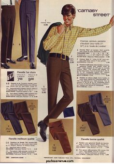 "Young Men's ""Carnaby Street"" Fashions ~ Sears-Simpson's 1967 Catalogue, Canada"