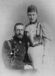 """Grand Duke Konstantin Konstantinovich (""""KR"""") & Grand Duchess Elizaveta Mavrikievna (""""Mavra"""")"""
