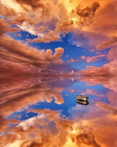 Boat reflection on the Salt Flats of Bolivia. Is this even on this Amazing World?