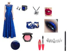 Vera Allaway Coronation by all-time-lost-girl on Polyvore featuring Aidan Mattox, Ted Baker, Bling Jewelry, Ciel, H&M, Charlotte Tilbury, Maybelline, NARS Cosmetics and RGB